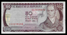 World Paper Money - Colombia 50 Pesos 1973 P414 @ F-Vf