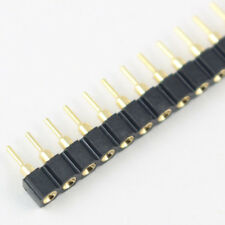 50Pcs Gold plated 2.54mm 40Pin Female Single Header Strip