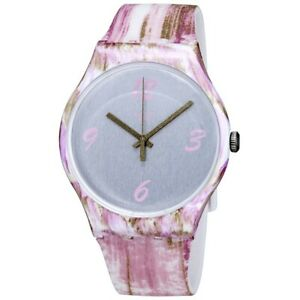 Swatch PINKQUARELLE Silicone Ladies Watch SUOW151