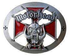 Motorhead Oval Belt Buckle-Red Edition