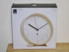 Umbra - Rimwood Wall/Mantle Clock - White/Natural