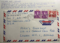 1961 Saigon VietNam USA Army PO 143 Airmail Cover To London England