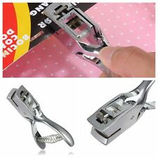 Slot Puncher punch 15x3 Hole Id badge card Hand Held Pvc tag Reel Tag Plier Tool