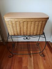 Longaberger Hope Chest Basket Lid Protector Woodcrafts Wrought Iron Table Stand