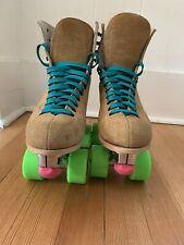 New listing Riedell Roller Skates size 7L Upgraded Avanti Plate Rollerbones 98a