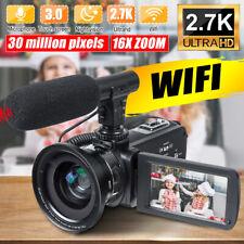 Full HD WIFI 30MP 16X 3'' LCD Digital Camcorder Video DV Camera Mic Night Visio