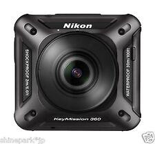 Nikon Waterproof Wearable Action Camera Key Mission 360 BK Black KeyMission