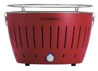 LotusGrill Rojo Fuego Libre de Humo Carbón Vegetal/Barbacoa Mesa Colorido Nuevo