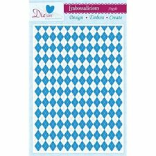 Crafter's Companion Embossalicious A4 Embossing Folder - Argyle  EF4-AGYL
