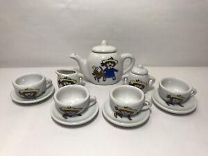 Vintage Madeline Miniature China Tea Set - 13 Pcs (1997, Schylling)