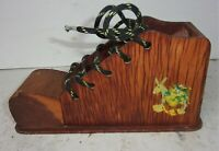 Vintage Wood Wooden Still Bank Shoe Shape