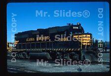 Original Slide ARR Alaska RR GP40-2 3006 Fairbanks AK 1984