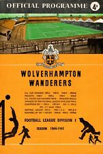 Wolves v Manchester United programme, FA Cup 6th Round, March 1965