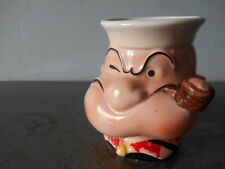 1980 King Features Syndcate Inc. Popeye The Sailor Man 3D Beverage Mug Euc