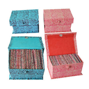 Colorful Designer Handmade Paper Envelope Set Box, Eco-Friendly Gift (Pack of 2)