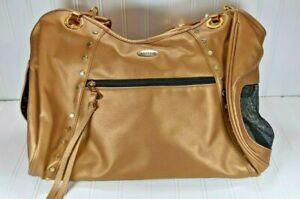 Petote Pet Carrier Glamorous Shiny Gold Tote Bag Purse Cat Dog Stylish