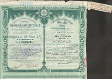 Chemin de Fer Ottoman Jonction SALONIQUE-CONSTANTINOPLE (TURQUIE) (I)