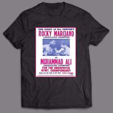 MUHAMMAD ALI VS ROCKY MARCIANO *OLDSKOOL FIGHT POSTER ART* Shirt *FULL FRONT*