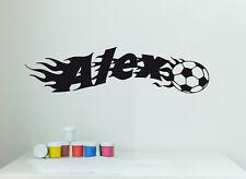 Wandaufkleber: Fußball + Name - Fussball Junge Aufkleber Kinderzimmer WandTattoo