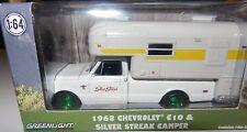 Greenlight 29865 1968 Chevy C10 Cheyenne w/Silver Streak Camper 1:64 Scale CHASE