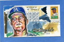 Sc #2016 Jackie Robinson Wild Horse Cachet Hand Drawn & Painted First Day Cover