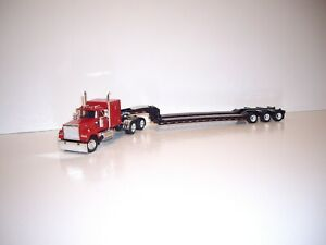 DCP FIRST GEAR 1/64 RED MACK SUPER-LINER WITH SLEEPER AND TALBERT TRIAXLE LOWBOY