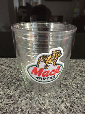 New Genuine Mack Merchandise Retro Bulldog Logo Double Wall Clear Tumbler Cup