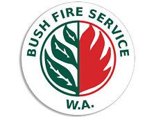 4x4 inch ROUND Bush Fire Service WA Sticker - west australia firefighter brigade