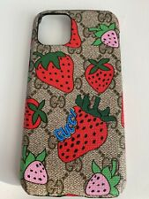 Gucci Case For Iphone 11 Pro With Logo Strawberry