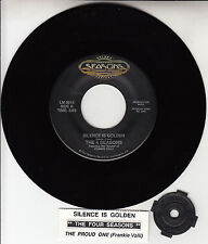 """THE 4 FOUR SEASONS Silence Is Golden & The Proud One 7"""" 45 rpm vinyl record NEW"""
