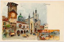 COMO – Weilandt Signed Como Postcard – Italy - udb (pre 1908)