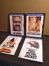 Kubrick 4 Dvd Lot - Shining, Eyes Wide Shut, Full Metal Jacket, Clockwork Orange