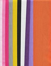 Grosgrain ribbon 3 inch 10 yds total 10 different colors plus 3/8 inch or uchuz
