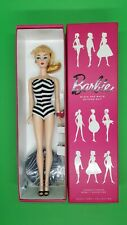 Barbie BLACK & WHITE BATHING SUIT VINTAGE REPRO BLACK LABEL 2014 NRFB