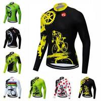 Herren Fahrradbekleidung Langarm Radtrikot Reflektierende Fahrrad Hemd Trikot