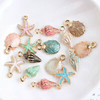 13X Charm Drop Oil Starfish Shell Pendant Necklace Jewelry Set Making Handmade