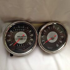 BSA Smiths 120MPH Speedometer & 10,000 RPM Tachometer 1966 A65, A50, 1967-69 B44
