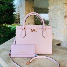 Michael Kors Mott Large Satchel Shoulder Bag Crossbody Blush Pink Leather
