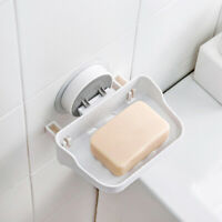 AM_ Bathroom Wall Mounted Traceless Soap Shelf Bath Storage Holder Organizer Rac