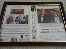Framed original Vhs sleeve cover big box a4 crimes and misdeanors woody allen