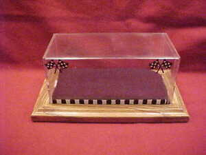 """DISPLAY CASE 1/25 - 1/32 HAND MADE 8-1/2"""" LONG X 4"""" WIDE X 4"""" HIGH"""