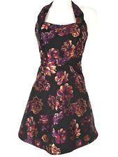 Womens Karen Millen Black Floral Halterneck Short Cocktail Prom Dress Size  10 38 33030364f