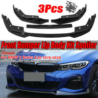 For BMW G20 G28 Front Lip Spoiler Splitter 2019-2020 M Performance Sport