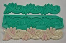 Silicone mold mould sugarcraft cake decoration moulds crafts ace border (1003)