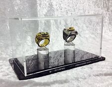 Double Championship Ring Display Case - 2 Ring Display Case Championship Rings