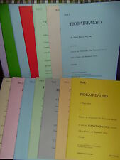 Complete collection 16 volume Piobaireachd Society music book highland bagpipes