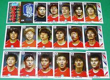 PANINI FOOTBALL GERMANY 2006 COREE DU SUD SOUTH KOREA WM COMPLET FIFA WORLD CUP