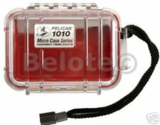 Pelican Micro Case Red Clear 1010 New 5.4 x 2.1 x 4.1