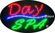 """US Seller Animated Day Spa Led Sign neon lighted. Video inside.  21""""x13-1/2"""""""