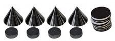 4 Lautsprecher Spikes, Noisekiller, Dynavox, Sub-Watt-Absorber, Schwarz Absorber